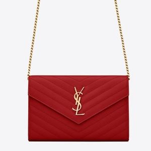 Ysl shoulder crossbody bag clutch